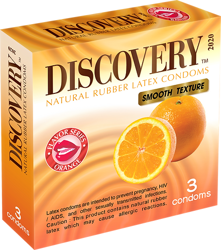 Discovery Smooth Condom (Orange)