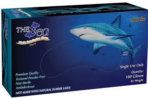 The Sea Dark Blue Nitrile Powder Free Textured Exam Gloves
