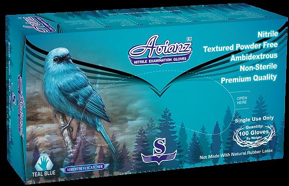 Avianz Teal Blue Nitrile Powder Free Textured Exam Gloves