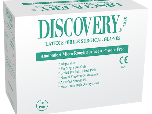 Discovery Latex Powder Free Textured Sterile Surgical Gloves