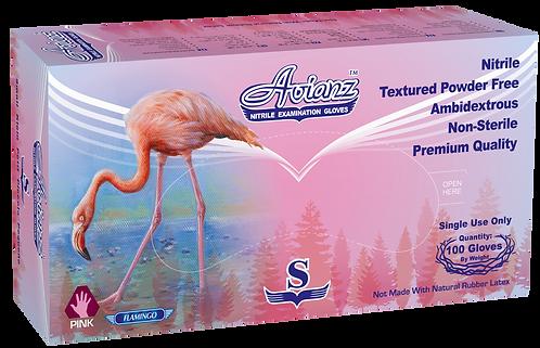 Avianz Pink Nitrile Powder Free Textured Exam Gloves