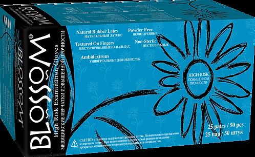 Blossom High Risk Latex Powder Free Textured Exam Gloves