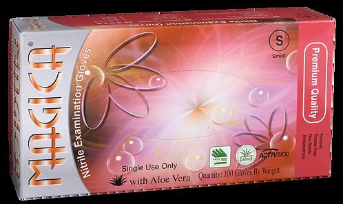 Magica Green Nitrile Powder Free Textured Exam Gloves with Aloe Vera