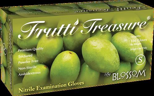 Frutti Treasure White Nitrile Powder Free Textured Exam Gloves