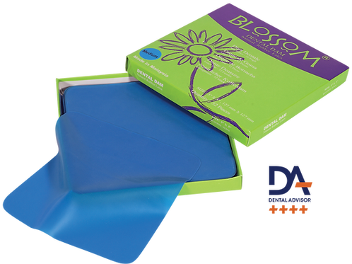 Blossom Blue Rubber Dental Dam