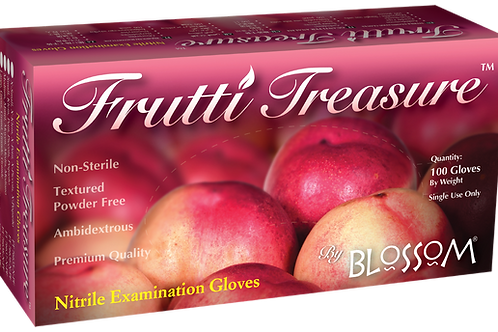 Frutti Treasure Lila Soft Nitrile Powder Free Textured Exam Gloves (NON-USA)