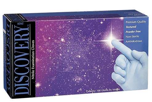 Discovery Blue Nitrile Powder Free Textured Exam Gloves