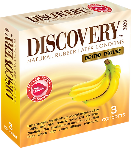 Discovery Dotted Condom (Banana)