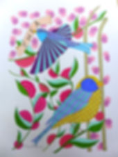 Birds that are a flight of fancy among flowers