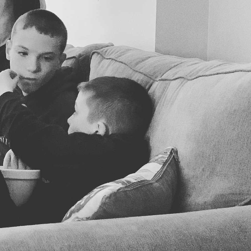 photo of Tadhg with his brother Dylan