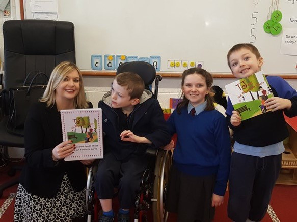 A visit to Tadhg's sister and brother's school