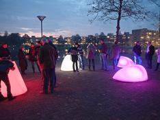 Lichtkunst op het plein