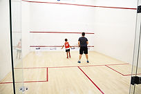 York Squash Club court