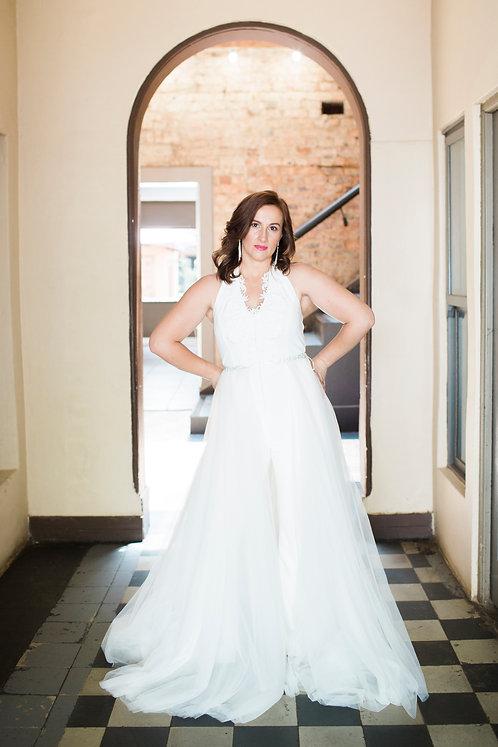 Bridal Halter Neck Jumpsuit
