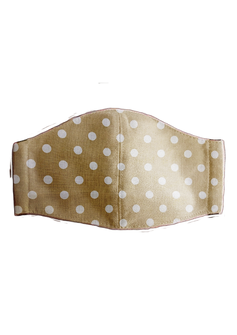 Protective Mask - Polka Brown