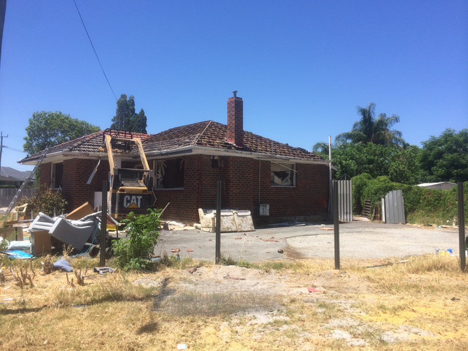 House demolition and site clear. Scott street, Cloverdale. $13000