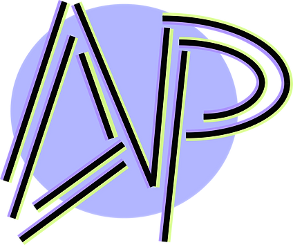 AP logo purple green