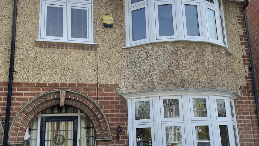 PVC flush windows and composite door