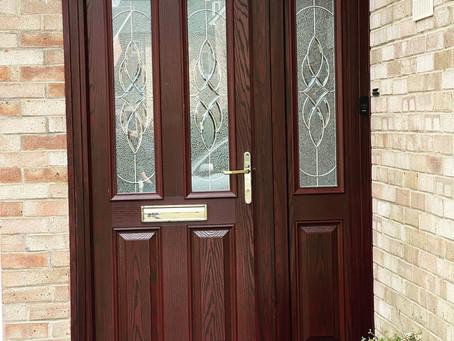 Door with side panel