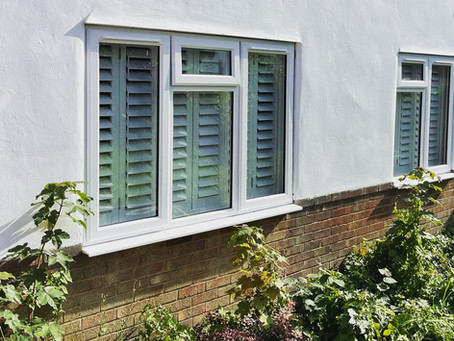 Double glazing with traditional smooth white PVC windows for energy efficiency and sound insulation