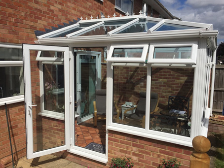Conservatory giving extra living space, all year round
