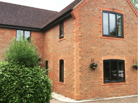 Aluminium double glazing with sleek lines adding a contemporary look to your home