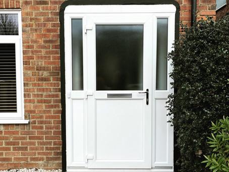 Porch in white PVC