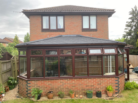 Insulated replacement roof