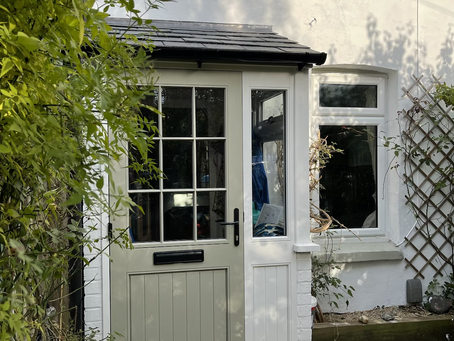 Double glazed porch with timber door and frames to create a luxurious look to your entrance area
