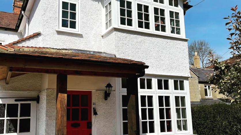 PVC white woodgrain windows