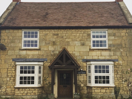 Traditional cottage windows
