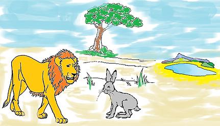 """""""Le lion et le lièvre"""" adapté en langue des signes française."""