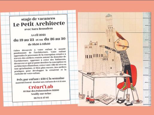 Stage de vacances Le Petit Architecte