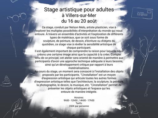 Stage d'été 2021 à Villers-sur-mer du 16 au 20 aout