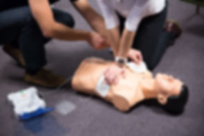 CPR training medical procedure workshop.