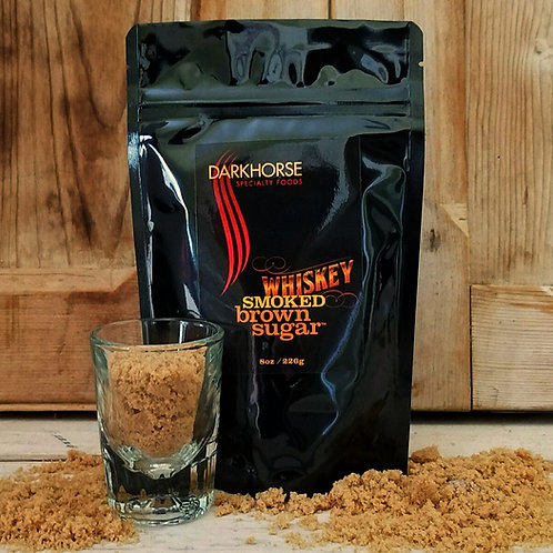 WHISKY Smoked Brown Sugar,  resealable 8 oz pouch