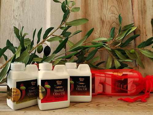 SMOKED OLIVE OIL  Sampler Pack