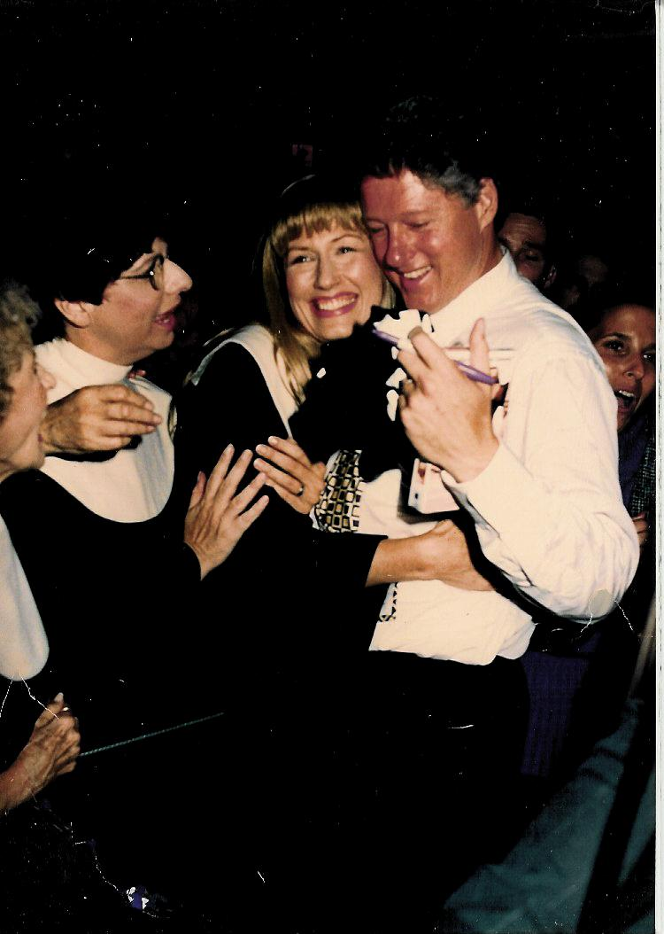 Darlene with President Clinton
