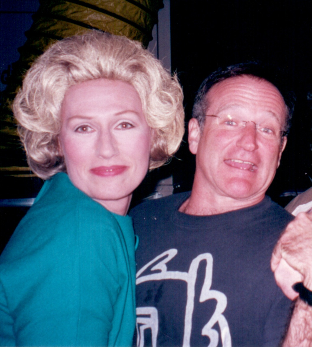 Darlene with Robin Williams