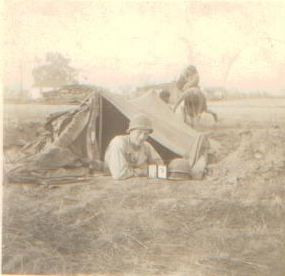 Richard in Tent 1945