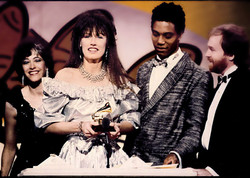 Darlene Accepting Grammy