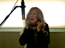 Darlene Recording in the Studio