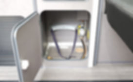 Camper Van Gas Storage Compartment