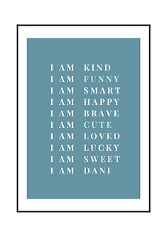 I AM Personalised Poster