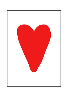 Big Red Heart Poster