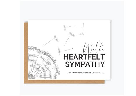 HEARTFELT SYMPATHY