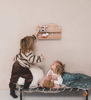 Shelf-House with 2 Toys