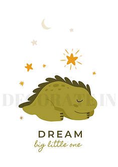 """DREAM"" GREEN DINO DP"