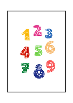 Nordic Numbers Poster