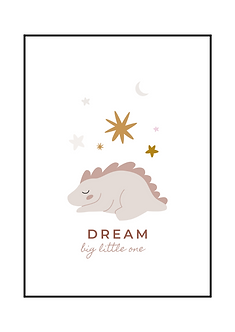 Pink Dino Dream Poster